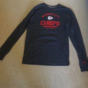 Nike Kansas City Chiefs Grey Long Sleeve